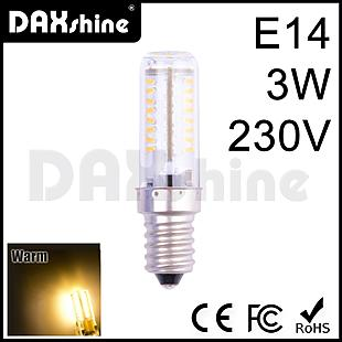 DAXSHINE 70LED E14 3W 230V Warm White 2800-3200K 170-200lm