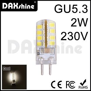 Daxshine 32LED Bulb GU5.3-2W AC230V Cool White 6000-6500K