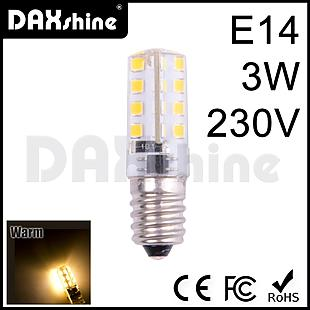 DAXSHINE 32LED E14 3W 230V Warm White 2800-3200K 160-190lm