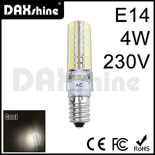 DAXSHINE 64LED E14 4W 230V Cool White 6000-6500K 290-310lm